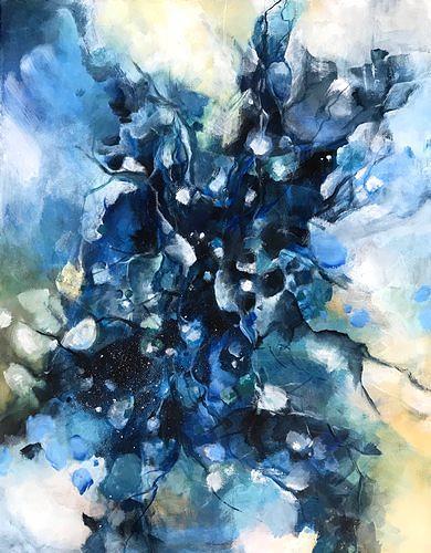 Isabel Zampino, Dünnes Eis, Natur: Wasser, Zeiten: Winter, Gegenwartskunst, Abstrakter Expressionismus