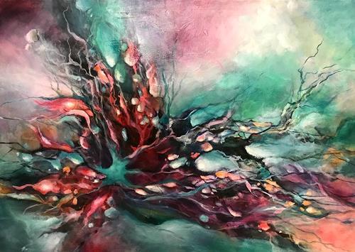 Isabel Zampino, Grüner Seestern, Natur: Wasser, Fantasie, Gegenwartskunst, Abstrakter Expressionismus