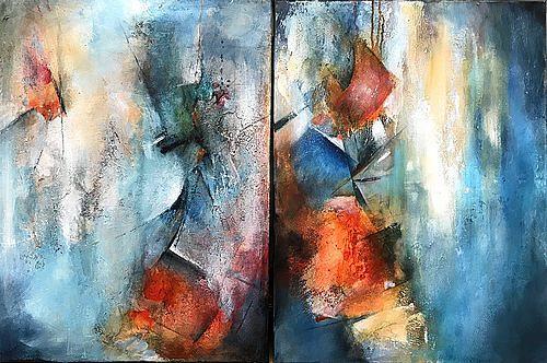 Isabel Zampino, Abstrakte Komposition, Fantasie, Diverses, Gegenwartskunst