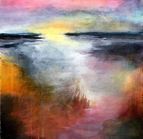 Isabel Zampino, Ausblick, Landschaft: Ebene, Landschaft: Sommer, Gegenwartskunst, Expressionismus