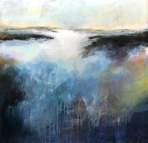 Isabel Zampino, über der Nebelgrenze, Landschaft: Berge, Zeiten: Herbst, Gegenwartskunst