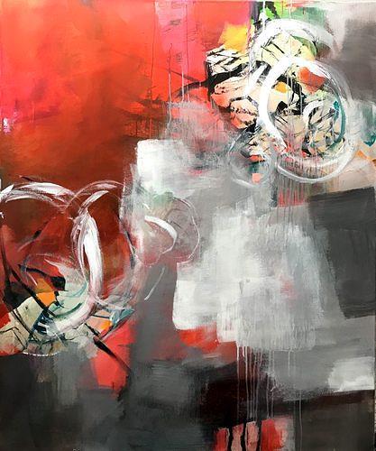 Isabel Zampino, Velocidad I (Geschwindigkeit), Bewegung, Fantasie, Gegenwartskunst, Abstrakter Expressionismus