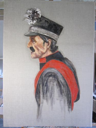 Els Driesen, de Konjel, Menschen: Mann, Menschen: Porträt, Impressionismus