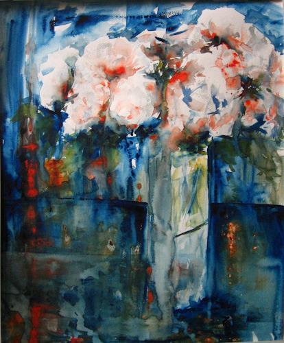 Els Driesen, stilleven 7, Pflanzen: Blumen, Stilleben, expressiver Realismus