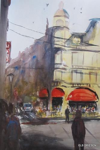 Els Driesen, Brasserie des Arts Antwerpen, Architektur, Zeiten: Sommer, expressiver Realismus