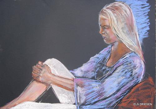 Els Driesen, Julia, Menschen: Modelle, Menschen: Frau, expressiver Realismus