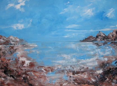 Els Driesen, Zee, Natur: Wasser, Landschaft: Strand, Expressionismus