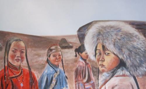 Els Driesen, Jenkins Khan, Menschen: Gruppe, Menschen: Kinder, Impressionismus