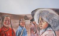 Els-Driesen-Menschen-Gruppe-Menschen-Kinder-Moderne-Impressionismus