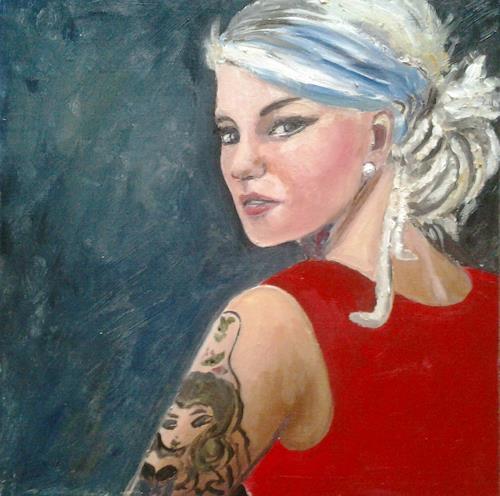 Els Driesen, meisje met tattoo, Menschen: Frau, Menschen: Gesichter, Realismus