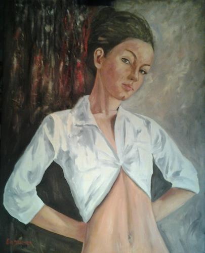 Els Driesen, jonge vrouw, Menschen: Frau, Diverse Menschen, Realismus, Expressionismus