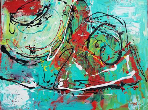Els Driesen, O/T, Abstraktes, Bewegung, Moderne