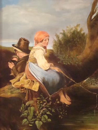 Doris Jordi, Fischende Kinder, Stilleben, Menschen: Kinder