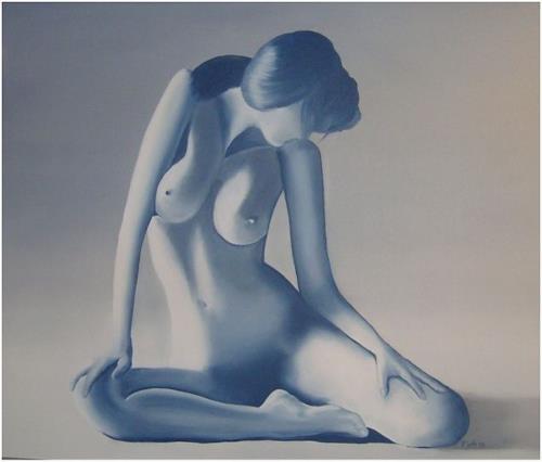 Doris Jordi, la femme voluptueuse, Akt/Erotik: Akt Frau, Menschen: Modelle, Abstrakte Kunst
