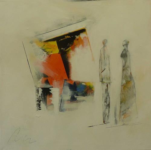 Doris Jordi, Bildbesprechung, Dekoratives, Menschen: Gruppe, Abstrakter Expressionismus