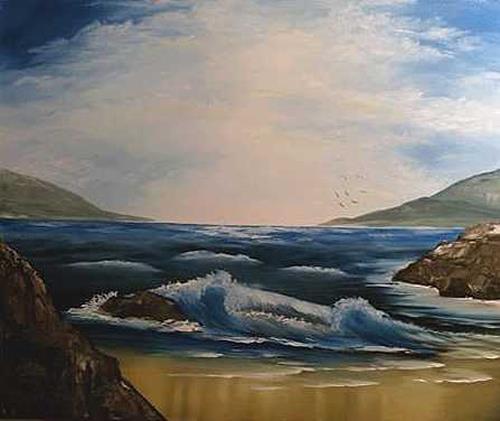 Doris Jordi, Meeresbucht, Landschaft: See/Meer
