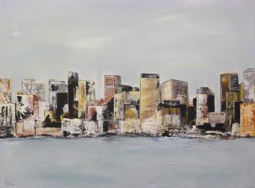 Doris Jordi, Skyline Panama City, Diverses, Dekoratives, Abstrakte Kunst