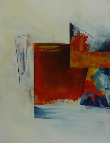 Doris Jordi, Feuer, Abstraktes, Dekoratives