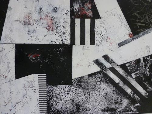 Doris Jordi, Black and White, Abstraktes, Dekoratives, Abstrakte Kunst, Abstrakter Expressionismus