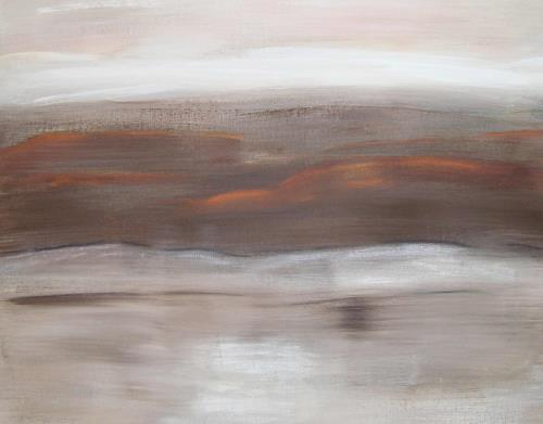 Doris Jordi, Abendrot, Landschaft: Ebene, Landschaft: Herbst