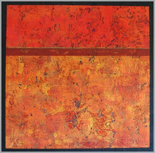 Doris Jordi, sea of flames, Abstraktes, Moderne