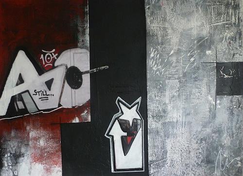 Doris Jordi, Graphity II, Abstraktes, Dekoratives, Abstrakte Kunst