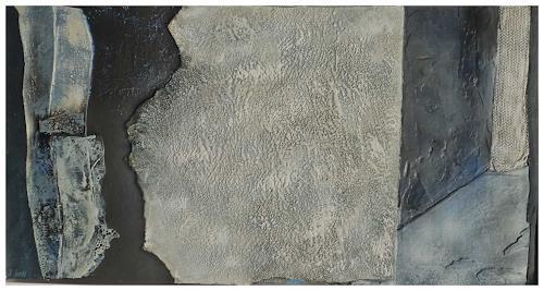 Doris Jordi, Spiel mit Bitumen und Feuer, Abstraktes, Dekoratives