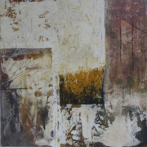 Doris Jordi, Malen ohne Farbe I, Abstraktes