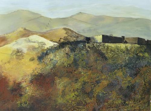 Doris Jordi, Castello Toscana, Landschaft: Berge, Natur: Gestein, Expressionismus