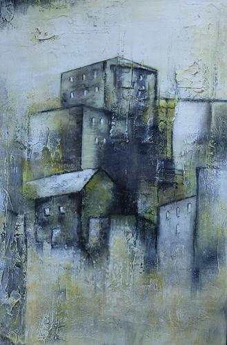 Doris Jordi, Dorf über den Felsen, Dekoratives