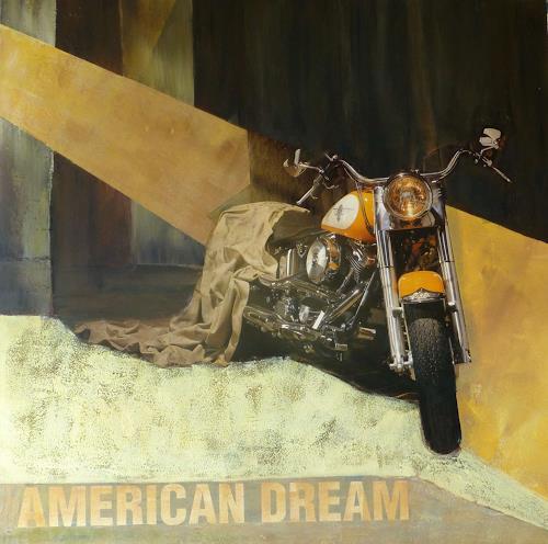 Doris Jordi, Harley Davidson, Verkehr: Motorrad, Freizeit, Abstrakte Kunst