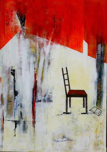 Doris Jordi, Lesepause, Freizeit, Wohnen, Abstrakte Kunst, Abstrakter Expressionismus