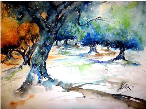 flowart, Olivenhain, Natur: Wald, Moderne, Expressionismus