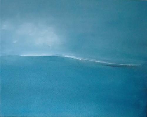 Dorothea Tlatlik, Das Meer in mir, Landschaft: See/Meer, Abstrakte Kunst, Expressionismus