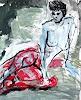 Rolf Becker, Strand, Menschen, Menschen, Expressionismus