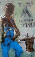 Rolf Becker, Dame in Blau