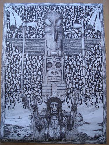 Rudolf Olgiati, Totem, Menschen: Gesichter, Mythologie, Abstrakte Kunst
