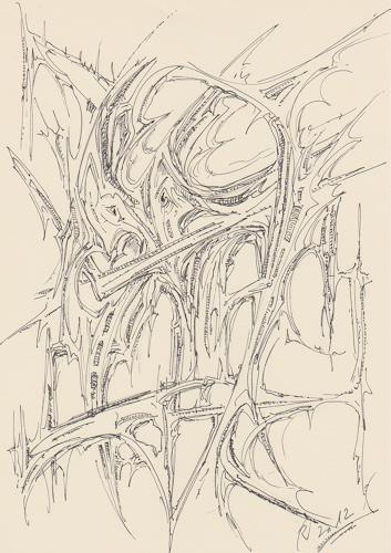 Rudolf Olgiati, Gebilde 5, Abstraktes, Fantasie