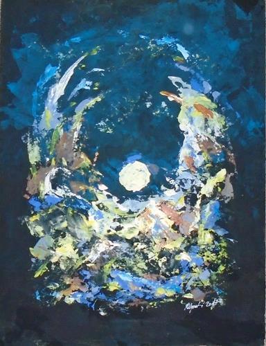 Rudolf Olgiati, Wellen des Mondes, Abstraktes, Fantasie, Abstrakte Kunst