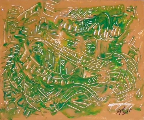 Rudolf Olgiati, JAZZ I, Fantasie, Diverse Musik, Action Painting
