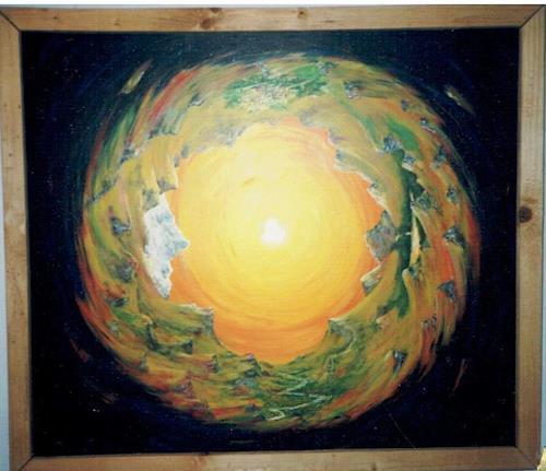 Rudolf Olgiati, Weltbild 1, Landschaft, Mythologie, Symbolismus