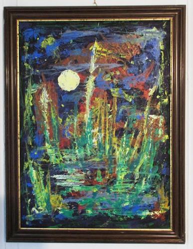 Rudolf Olgiati, Ohne Titel, Fantasie, Abstraktes, Abstrakte Kunst