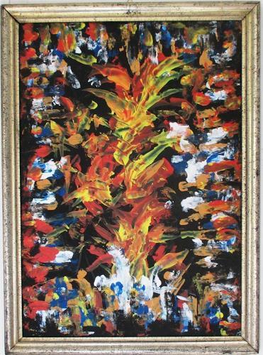 Rudolf Olgiati, Ohne Titel, Abstraktes, Fantasie, Action Painting