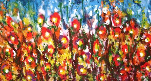 Gita Khezri, O/T, Pflanzen: Blumen, Aktionskunst