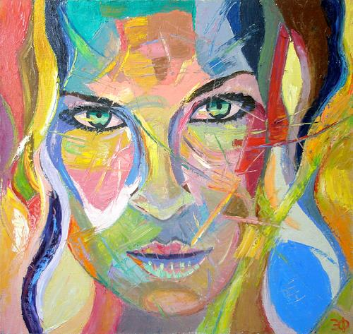Distorted Faces Oil Painting